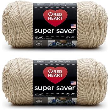 Buff 3 Pack RED HEART E300PK.0334 Super Saver 3-Pack Yarn
