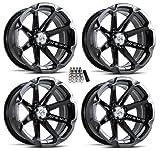 MSA M12 Diesel UTV Wheels/Rims Black 15' Polaris RZR 1000 XP/Ranger XP 900/1000