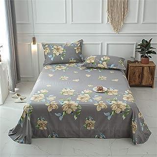 Drap housse famille, 100% coton poncé Draps de lit double Épais Classique Style européen Rétro Doux pour la peau Respirant...