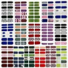 16 Sheets Full Wraps Nail Art Polish Stickers Decal Nail Strips Adhesive False Nail Design Manicure Set (color17)