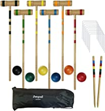 Juegoal Upgrade Six Player Croquet Set for Kids Family with Carrying Bag, 32 Inch