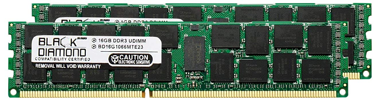 32GB 2X16GB Memory RAM for Dell PowerEdge R710 DDR3 RDIMM 240pin PC3-8500 1066MHz Black Diamond Memory Module Upgrade