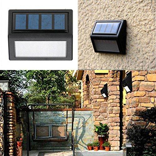 Yongpin luci solari LED per esterni, a energia solare con sensore luci di sicurezza senza fili impermeabile ad energia solare lampada solare lampada da parete per esterni