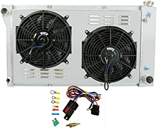 OzCoolingParts 4 Row Core Aluminum Radiator + 2 x 12