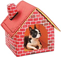WLDOCA Cat Dog House/Pet Single Bed Room/Kennel Cattery Tent Nest House,Removable Washable,Red Brick Chimney House