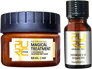 ALLCOME Hair Detoxifying Hair Mask Advanced Molecular Hair Roots Treatmen Recover Strengthen Hair Follicles, Makes Hair Manageable and Ultra-soft, Easy to Clean (Brown)