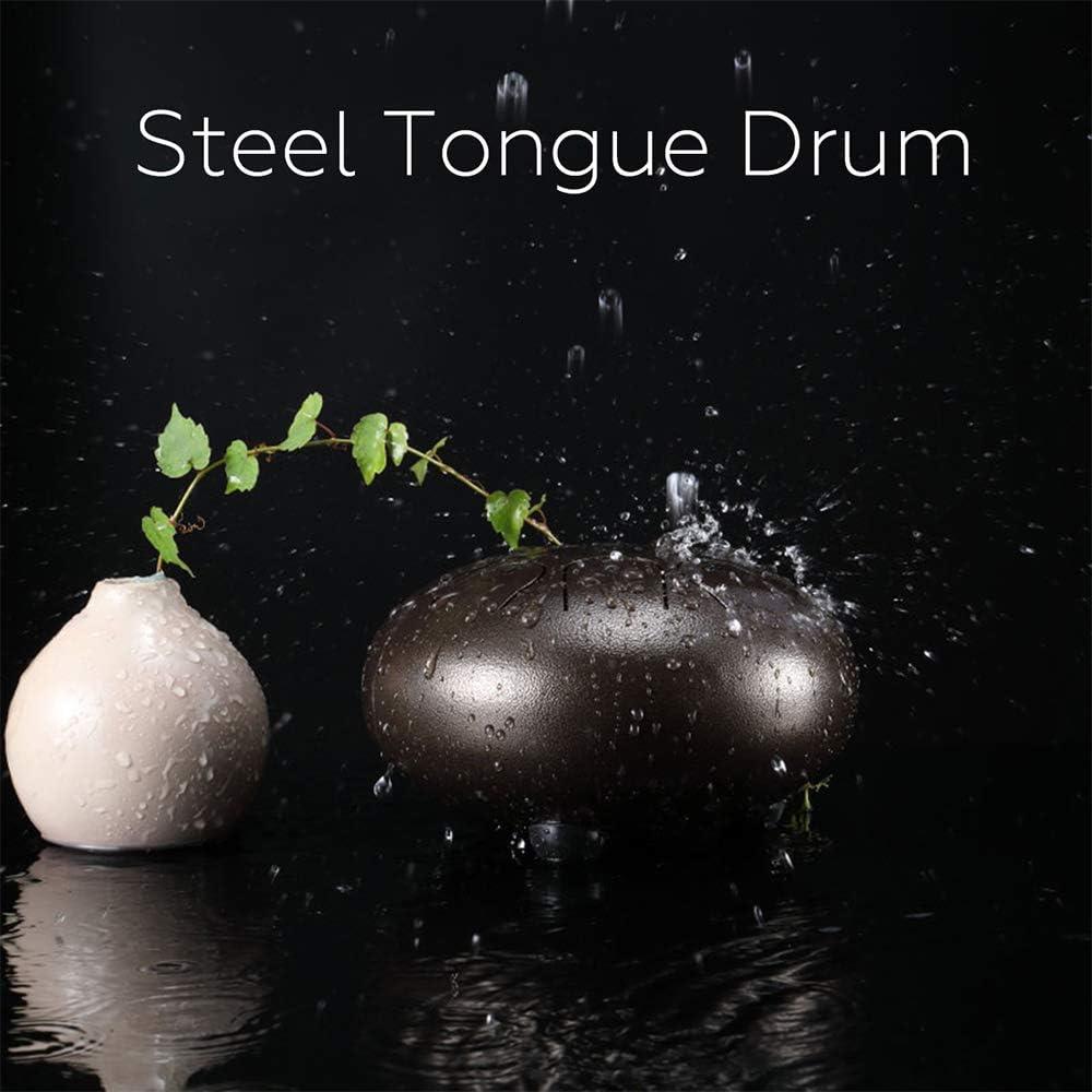 Libro de M/úsica Tambor de Lengua 13 Pulgadas 15 Notas de Instrumento de Percusi/ón de Percusi/ón Manual con Tambor de Mano con Bolsa JMFHCD Steel Tongue Drum Mazos