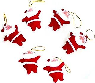 Lanue Mini Santa Claus Doll Pendant Hanging Ornaments for Christmas Tree Decorations,12pcs