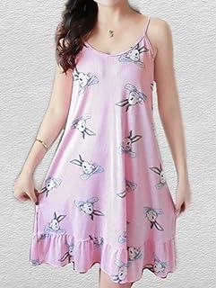 فستان نوم مع قناع للعين