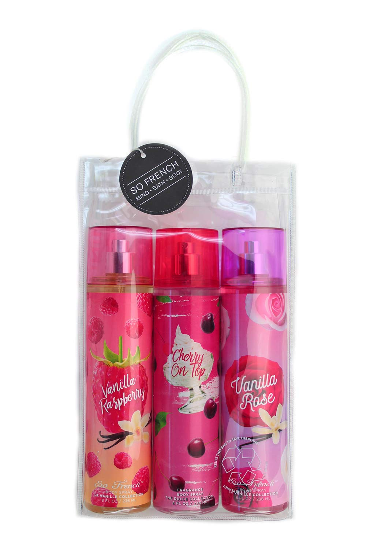 Choice Vanilla Collection Body Mist Set Cherry Outstanding T on Raspberry