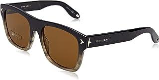نظارات شمسية للجنسين GV 7011 / S 03 2S7 من جيفنشي، لون اسود رمادي/بني، 55