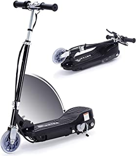 Overwhelming Upgrade E100 Adjustable Handlebar Height Folding Electric Scooter for Kids, 160LBS Max Weight Capacity No Kick to Start Motorized Scooters, up to 10mph