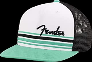 "Fender© ""Malibu Flatbill Hat - One Size - Color: White/Black/Teal, 9190117000"