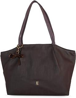 Baggit Autumn-Winter 2020 Faux Leather Women's Tote Handbag (Brown) (Pintuck)