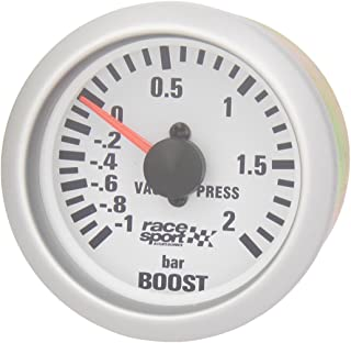 Pigupup 12V Universal Ronda de Coches Boost Manómetro 7 Colores LED de luz de Fondo 2 52mm Aguja del medidor Capotas flexibles Coche y moto