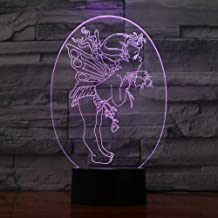 WEREWTR 3D Night Lightangel 3D Night Light Electric Illusion 3D Lamp Led 7 Color Changing USB Touch Desk Lamp for Kid's Gift