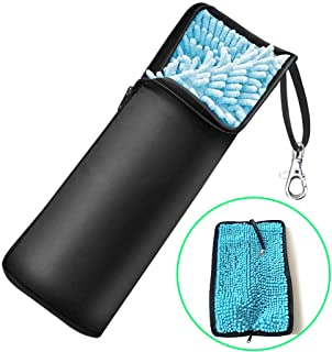 折り畳み傘カバー 超吸水 傘ケース 2面吸水 梅雨対策 折り畳み傘袋 マイクロファイバー 軽量 携帯便利 33cm以内傘入れ可能 ブラック