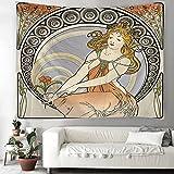 THE MOON Tapisserie Mandala Hexerei Hippie Makramee Tapisserie Boho Dekorativer Wandteppich Hängendes Tuch A4 130x150cm
