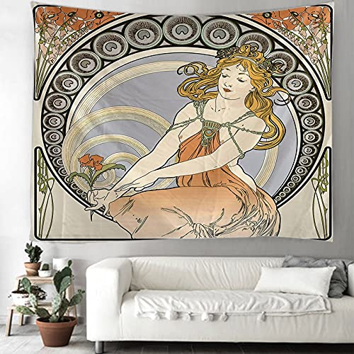 KHKJ El Tapiz de la Luna Mandala brujería Hippie Tapiz de macramé decoración Boho Tapiz Colgante de Pared A4 230x180cm