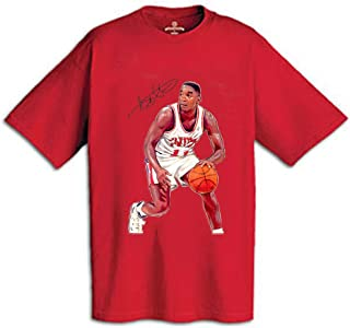 AP SPORTS Apparel Isiah Thomas T-Shirt Imprinted with Autograph and Action Illustration (600-Shirt Wholesale Pack)