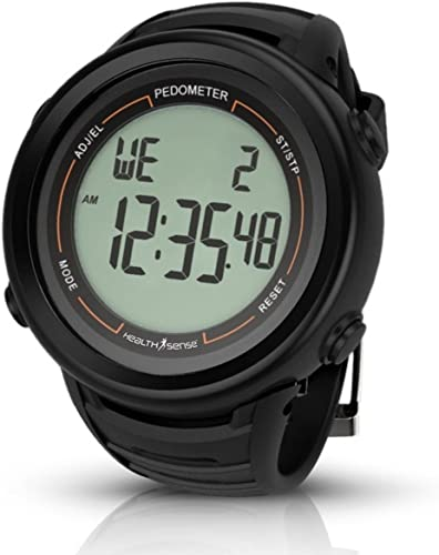 Health Sense PD 102 Smart 3D Pedometer Watch Black