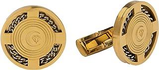 Diamond Moon Stainless Steel Cufflinks for Men, Stainless Steel - 1800541240400