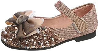 WEXCV Kinderschoen baby meisjes kruipschoenen strass bow prinses schoenen herfst zachte zool vrijetijdsschoenen loopschoen...