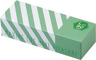 驚異の防臭袋 BOS (ボス) ストライプパッケージ/ 透明グリーンLサイズ90枚入 大人用 おむつ ・ ペットシーツ ・ 生ゴミ などの処理に