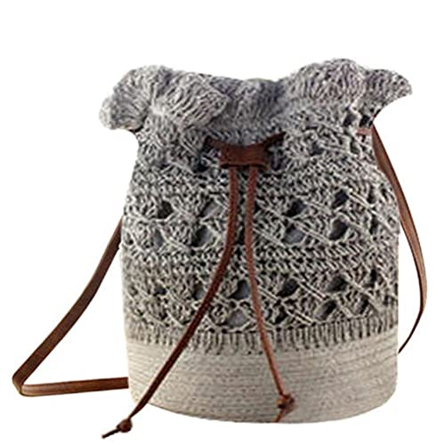 Crochet Drawstring Bag Amazoncom