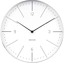 Karlsson, Wall Clock, Steel, White, One Size