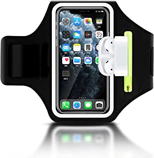 Sportarmband Handy Mit Airpods Tasche Universal Handyhülle Handytasche Armtasche für iPhone 12 Pro/11/11 Pro Max/XR/XS Max...