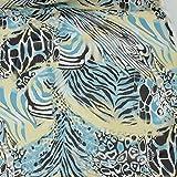 kawenSTOFFE Chiffonstoff Animalprint Borkencrepe Zebra