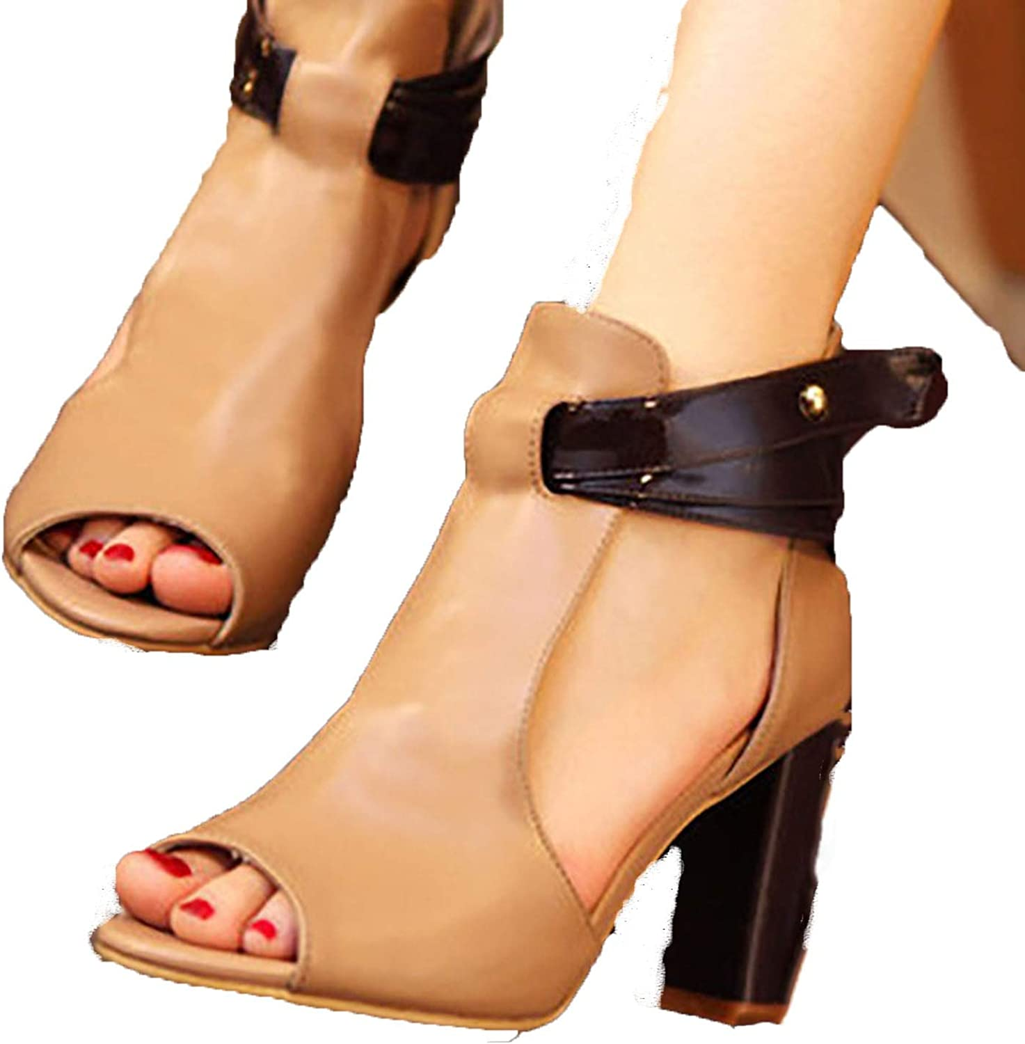 Theoutgoing sandal Fish Mouth high Heel Sandals Women Casual Summer shoes Female Pumps Sandals Size 35-43