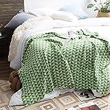 WYZQ Tagesdecke, Schottenkaro, für Sofa, Sessel, Tagesdecke, 130 x 180 cm, Grün
