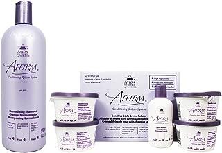 Avlon Affirm Normalizing Shampoo 32oz & Sensitive Scalp Relaxer 4 Kit