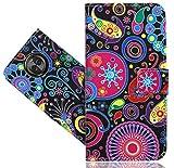 FoneExpert® Motorola Moto X4 Handy Tasche, Wallet Hülle Vintage Cover Hüllen Etui Hülle Ledertasche Lederhülle Schutzhülle Für Motorola Moto X4