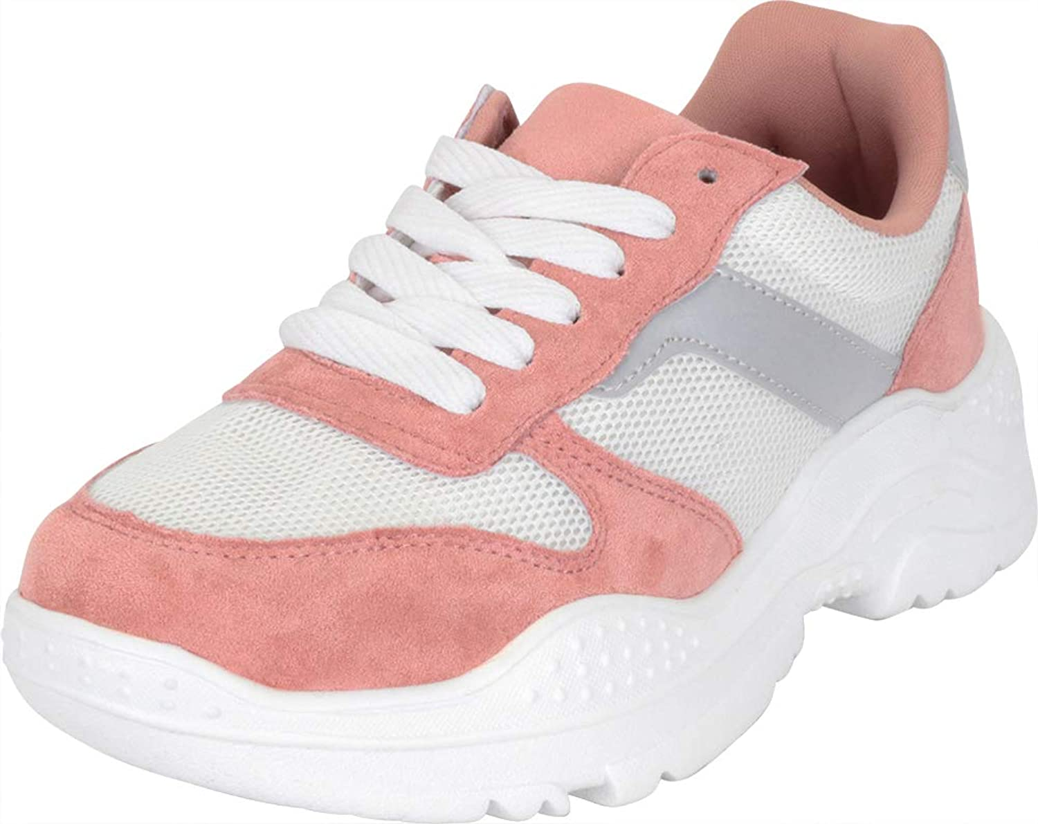 Cambridge Select Women's Low Top Retro 90s Ugly Dad colorblock Lace-Up Chunky Fashion Sneaker