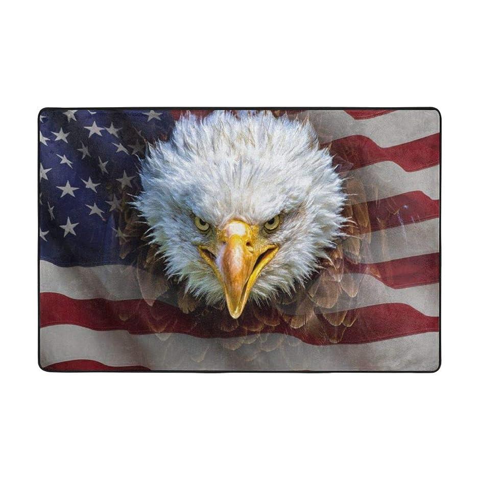 一時停止仮称刃ラグ ラグマット アメリカ 国旗 鷹 カーペット 洗える 滑り止め付き 防ダニ 抗菌防臭 夏 冷房対策 ふわふわ 床暖房対応 センターラグ フランネル かわいい 絨毯 長方形 北欧 おしゃれ 90x60cm 180x120cm BOLACO