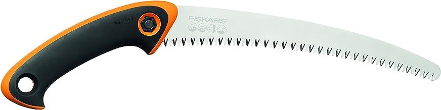 Fiskars professionella grensåg för färskt trä, Grova tänder, Högkvalitativt stålblad, inklusive hölster, Svart/Orange, SW-...