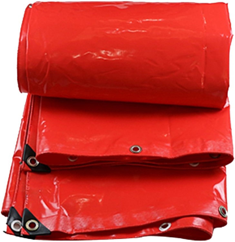DNSJB Plane, PVC doppelseitiges wasserdichtes Segeltuch, Gewächshaus, LKW Shading Sunscreen, eine Vielzahl von Größen zur Auswahl, hochwertige Plane (Farbe   rot, größe   5  6m) B07F9YGH31  Jugend