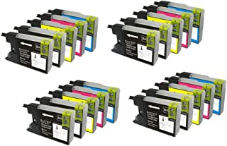 Inkcool 20pk LC12 LC73 LC75 LC400 LC1220 LC1240 ink cartridge for Brother printer MFC-J6910CDW/J6710CDW/J5910CDW (8BK/4C/4Y/4M)