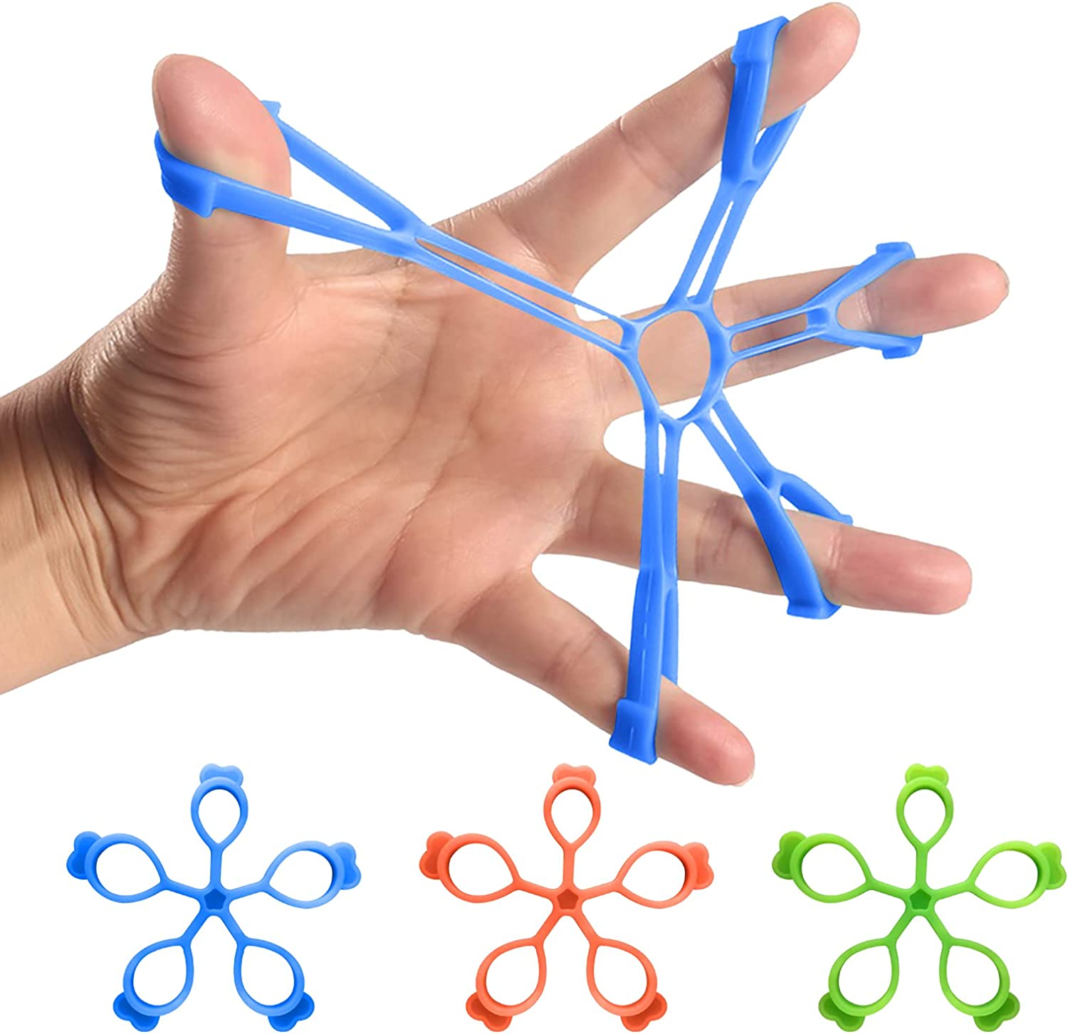 Sales for sale 6 PCS TunTenDo Hand Grip Many popular brands Exerci Finger Extension Strengthener