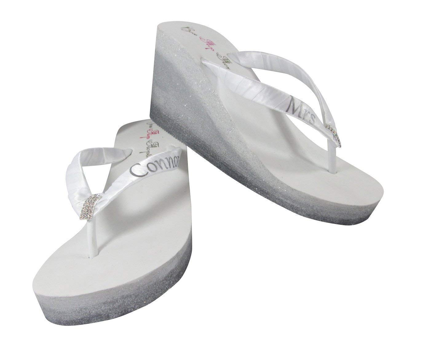Mrs Cash special price New Shipping Free Shipping Ombre Glitter Rhinestone Shoes White - Silve Ivory Pewter or