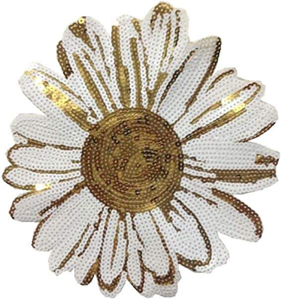Zerama Handmade Thread Sewing Sunflower Clothes Patches Sequin Applique Costume Clothing Paste Decor