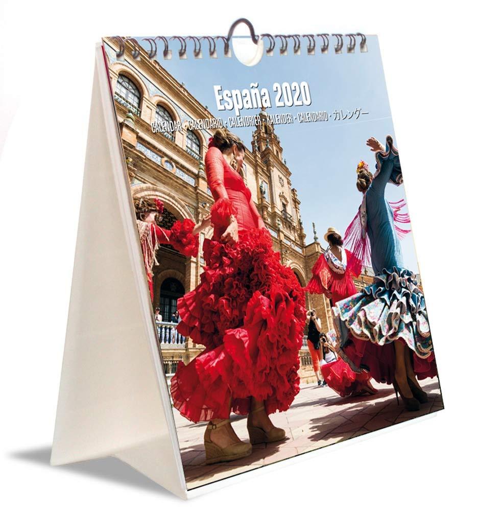 ERIK - Calendario Turístico Combi 2020 España, 16,5 x 18 cm ...