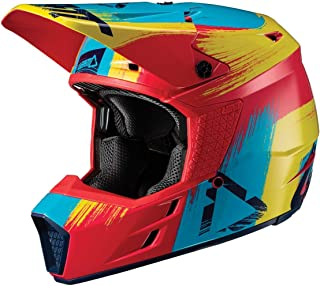 Leatt GPX 3.5 V19.1 Youth Boys Off-Road Motorcycle Helmet - Red/Lime/Large