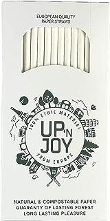 Upnjoy - 250 PCS Paille en papier, 250 Pailles blanches à boire recyclables | Adapté pour boissons avec et sans alcool – P...