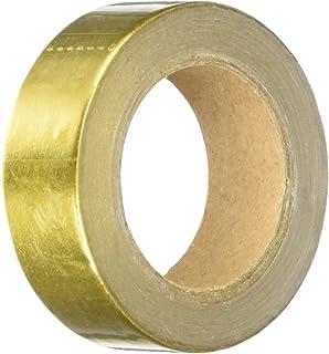 Wrapables Colorful Washi Masking Tape, Metallic Gold