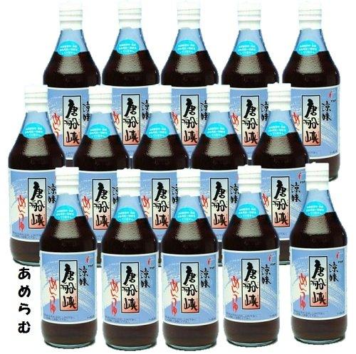 涼味唐船峡 めんつゆ 500ml瓶 15本 枕崎産のかつお節を使用した、だしの素(めんつゆ)です。