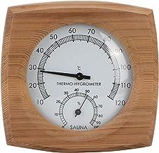 Thermomètre/Hygromètre, intérieur Bois 2-en-1 pour Sauna Sauna Thermo-hygromètre Thermomètre Hygromètre Accessoires de ham...